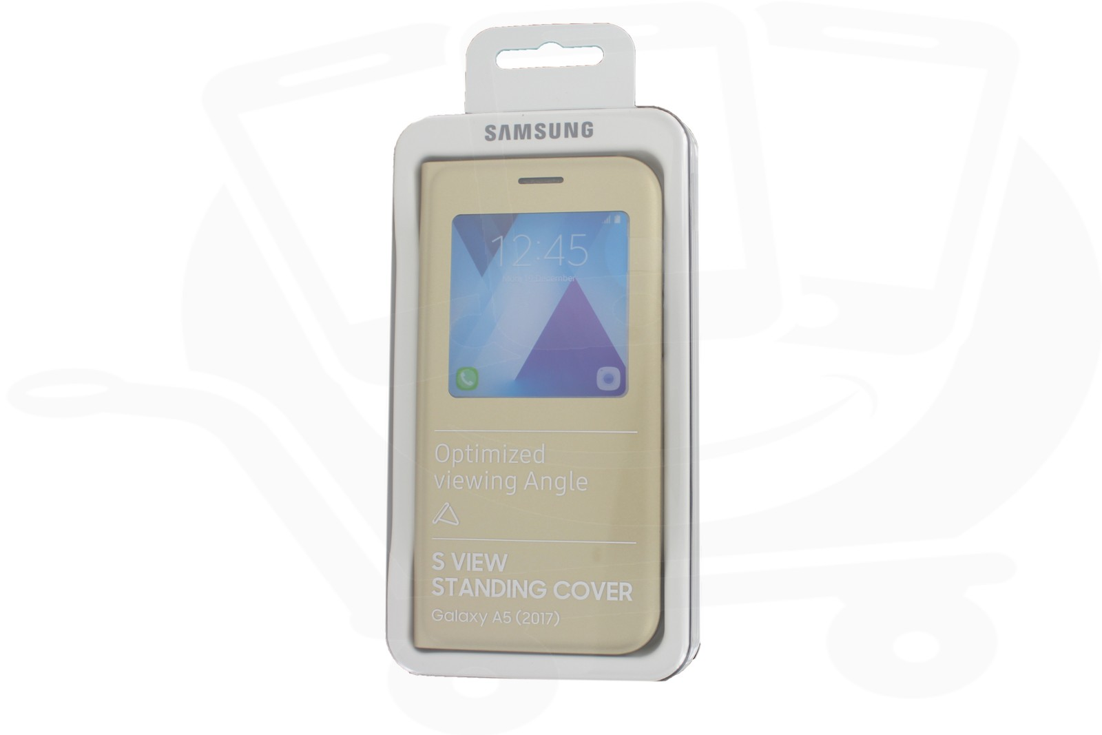 new products fa733 f742b S View Standing Cover Samsung EF-CA520PFE Galaxy A5 2017 Gold Original